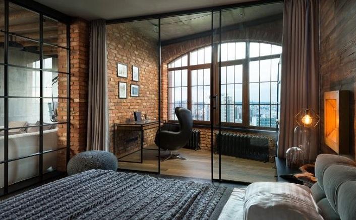 复古欧式风卧室书房推拉门隔断效果图