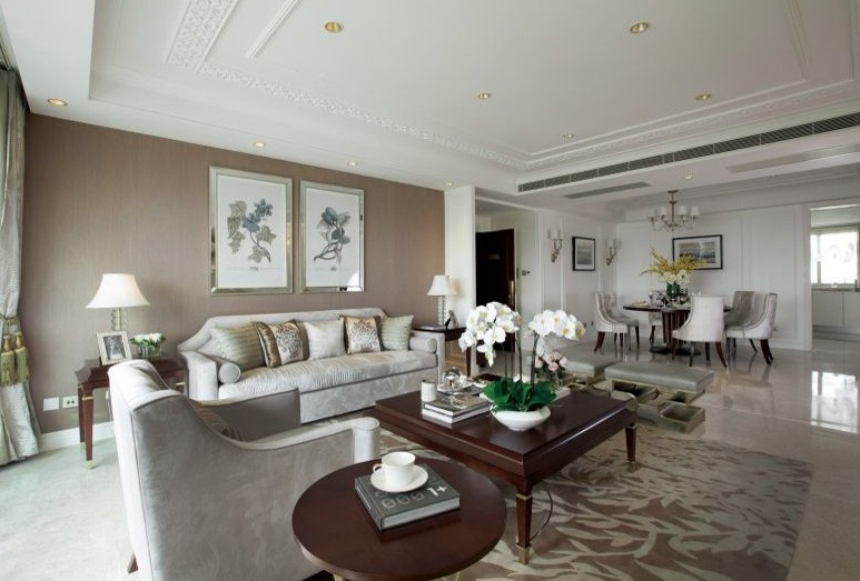 温馨美式装饰风格客厅背景墙效果图