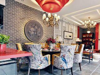 精美新古典东南亚中式混搭别墅室内设计效果图
