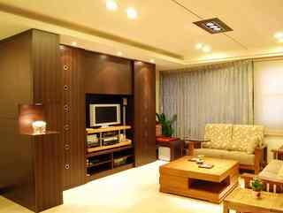 经典中式现代风格混搭二居室装修效果图