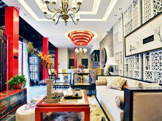 精美时尚新古典中式别墅客厅装修效果图大全