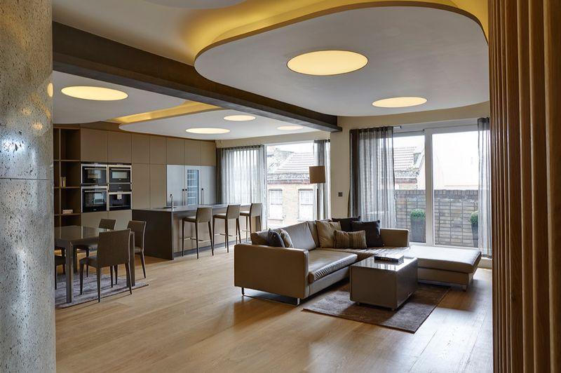 简约现代风格室内个性吊顶装修效果图