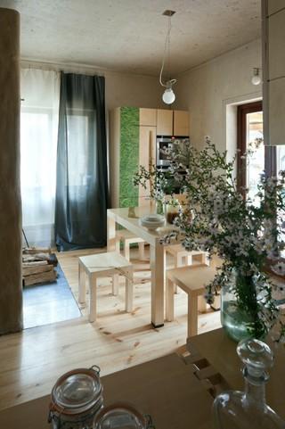 原木韵味北欧设计装修风格家装餐厅效果图