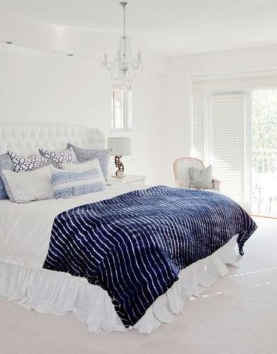 纯净北欧风室内卧室软装效果图