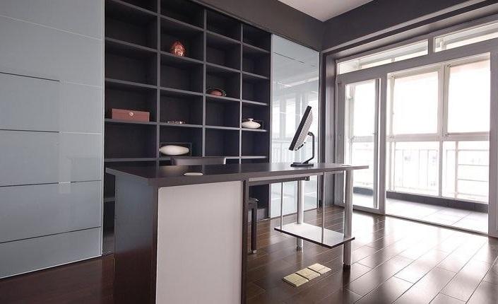 时尚硬朗北欧风格书房室内设计效果图片