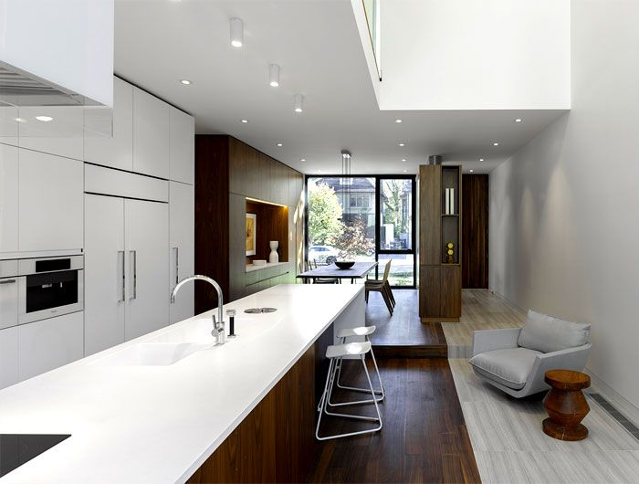简约明亮现代风格整体厨房效果图