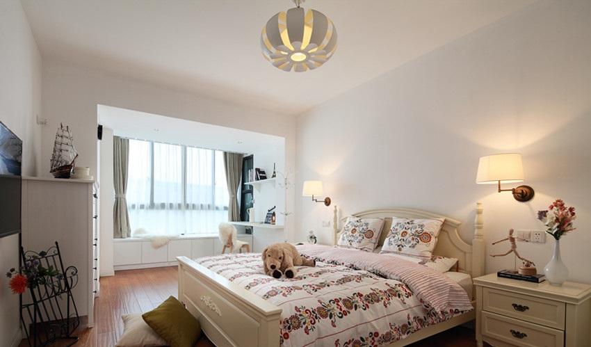 简约时尚北欧卧室设计效果图