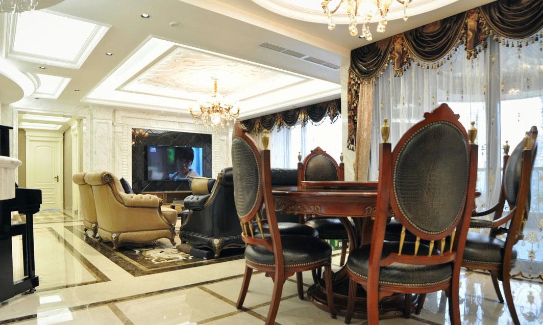 奢华欧式新古典家装餐厅餐桌装修欣赏