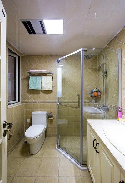 田园风光美式卫生间淋浴房设计图