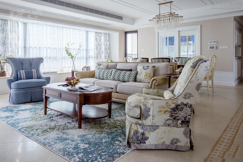 大气典雅欧式风格三居室内设计装修美图