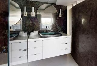 时尚现代家装卫生间大理石效果图