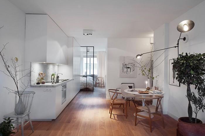 50平朴素北欧装修风格公寓室内壁灯设计图片