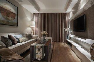 素雅简洁美式设计风格三室两厅装修案例图