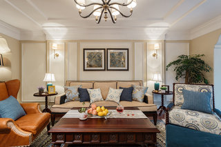 7万元打造混搭美式风格三居装修案例图