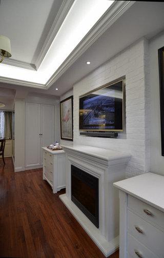 简约宜家欧式风格二居室室内白灰泥墙效果图
