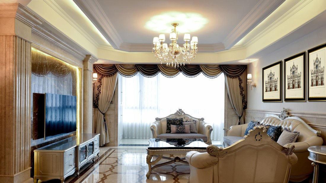 70平华丽欧式风格两室两厅装修图