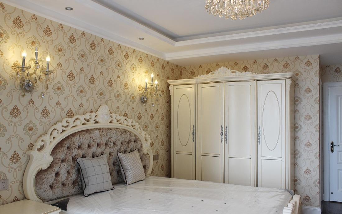 浪漫欧式新古典家装卧室墙纸欣赏