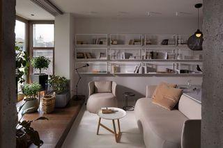 咖啡色现代装修风格公寓室内设计图