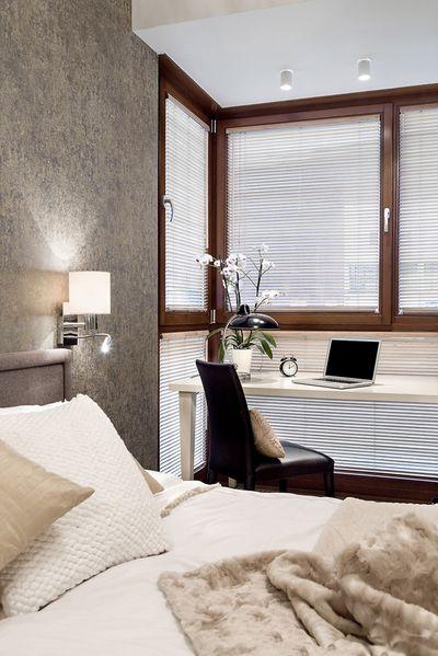 时尚简约风格卧室办公桌窗户效果图
