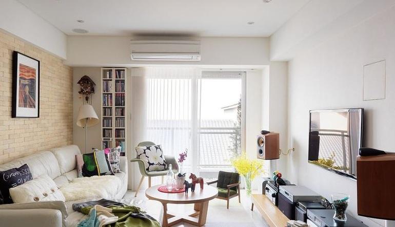 70平简约风格一居室室内设计装潢图片