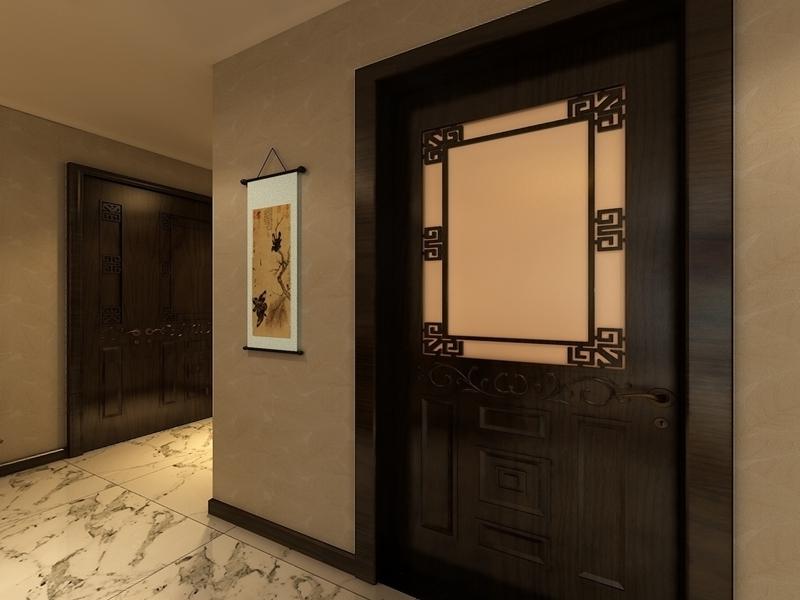 古典中式风格家居挂画装饰效果图