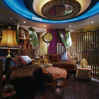 浓郁色彩东南亚异域风情三居室装修效果图