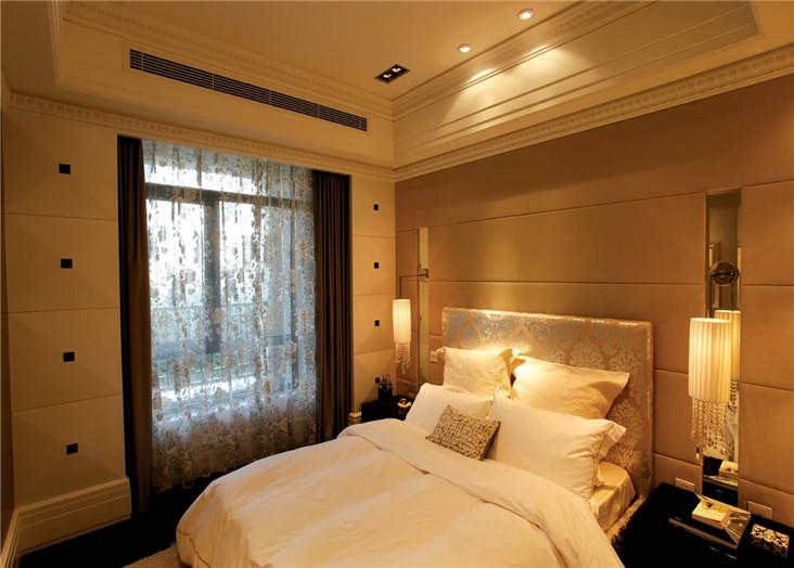 温馨潮流欧式风格卧室床头软包装饰效果图