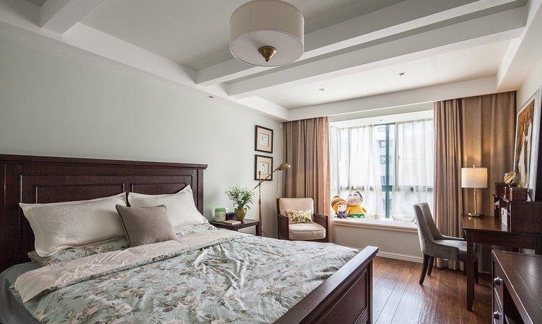 休闲复古美式卧室吊顶效果图