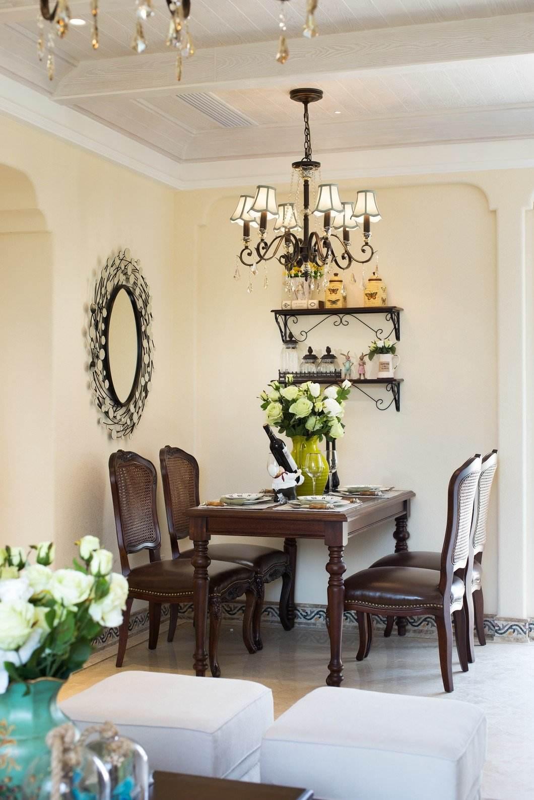复古美式休闲家装餐厅装饰效果图
