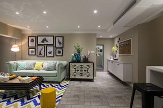 128平多彩时尚美式复古波普风格三居室效果图