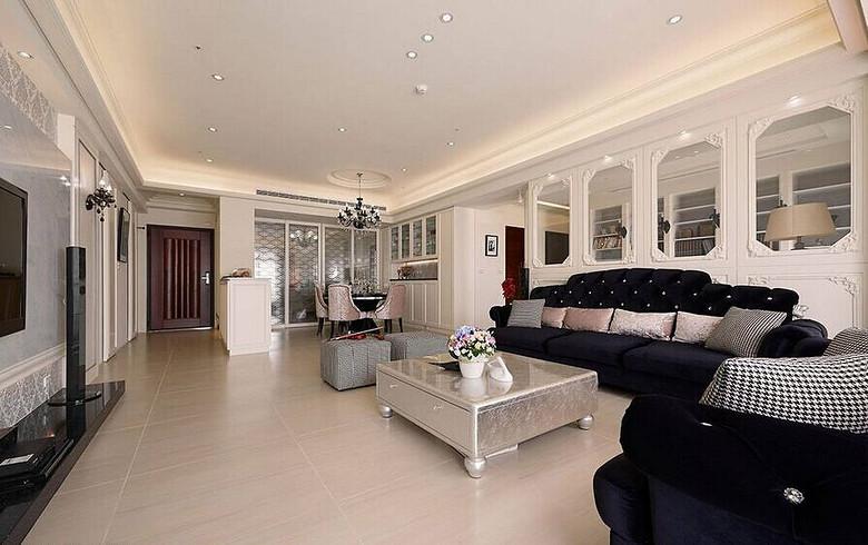 150平米时尚简欧风格三居室内装修欣赏图