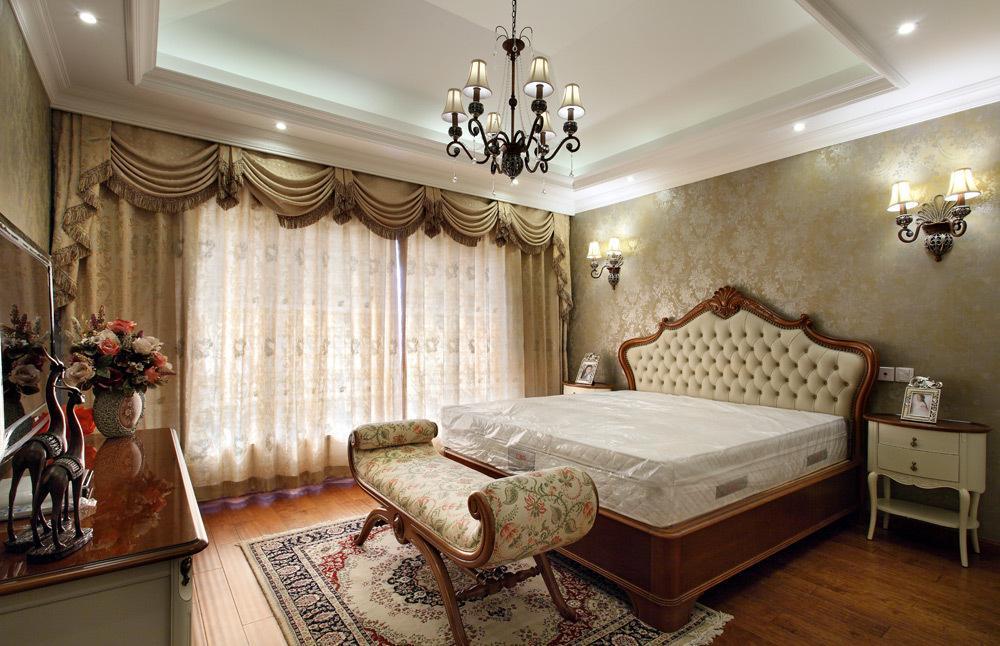 时尚欧式复古风格卧室灯具装饰效果图