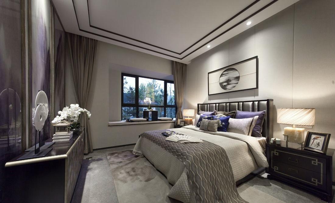 奢华现代中式混搭卧室效果图