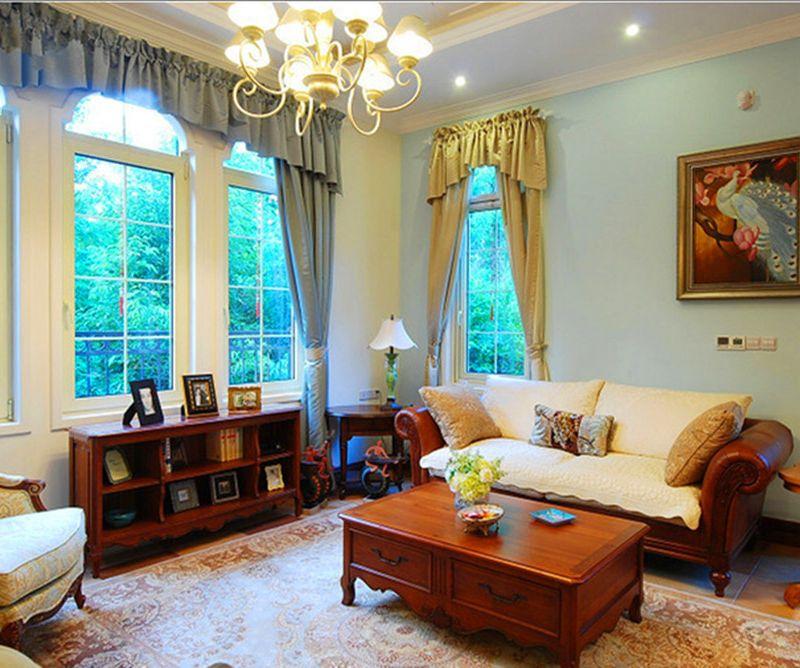 奢华美式风格卧室窗帘效果图