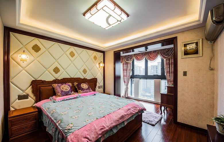古典中式风格复式卧室装潢效果图