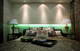 翠绿清新中式风格卧室装潢效果图