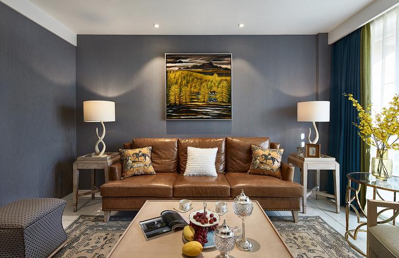 混搭美式潮流三居室内装修效果图