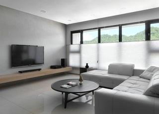 二居小户型黑白简约现代公寓装饰效果图