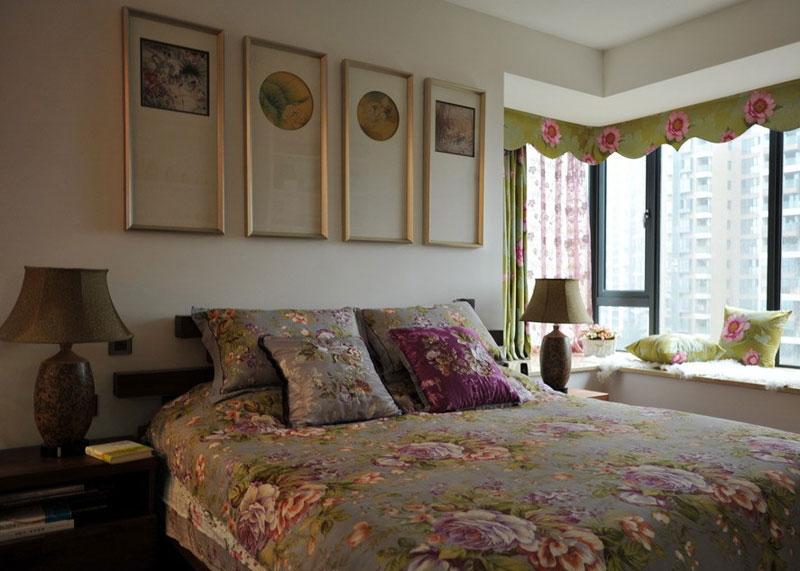 唯美中西混搭卧室装饰搭配效果图