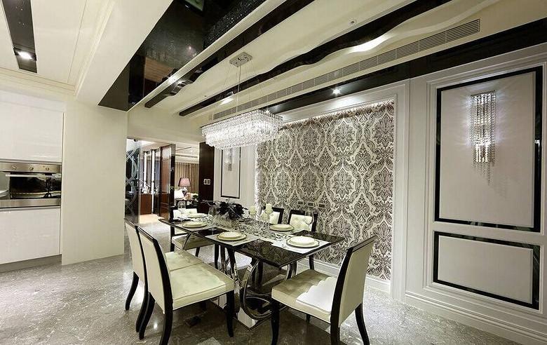 简洁时尚现代欧式风格餐厅设计装修效果图