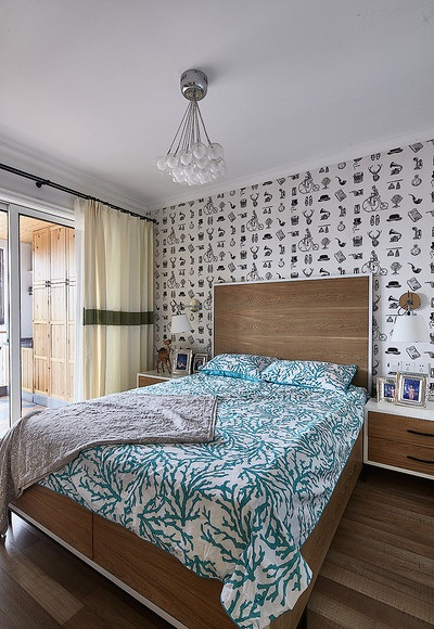 北欧宜家风卧室设计隔断装饰效果图