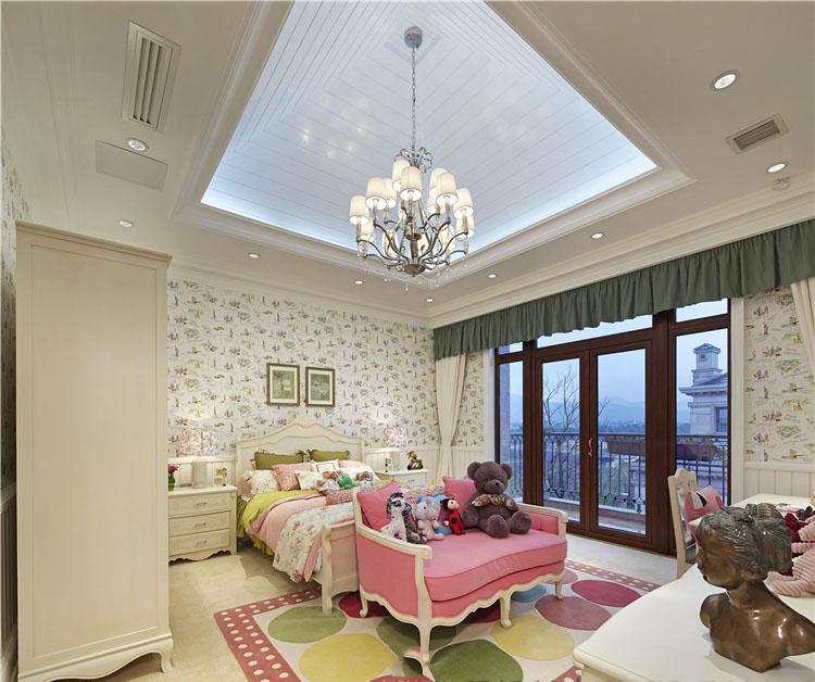 甜美小清新美式儿童房家装设计效果图片