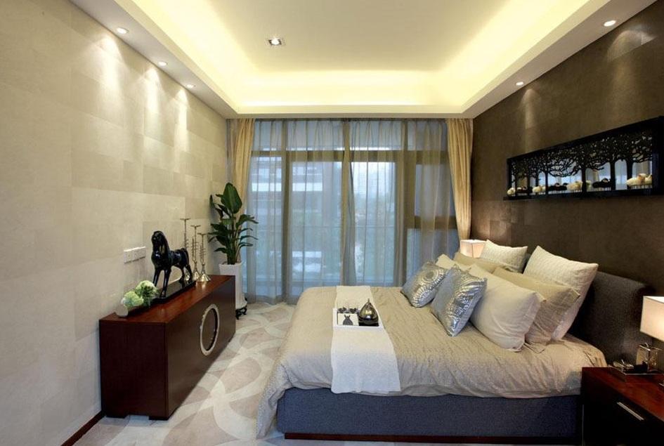 最新现代风格卧室筒灯装潢效果图