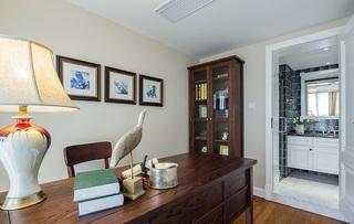 古典贵气美式风格家装书房台灯装饰效果图