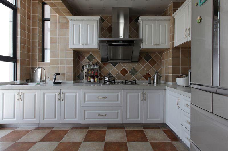 简欧风格家居厨房整体橱柜效果图图片