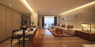 160平时尚素雅简中式风格三居室装修效果图