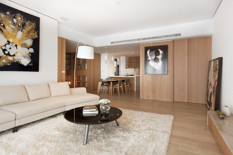 4万元打造简约原木风二居室室内装修图片