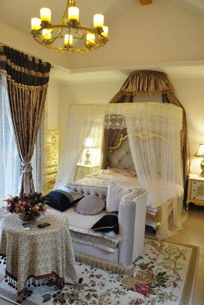 奢华唯美卧室窗帘设计效果图