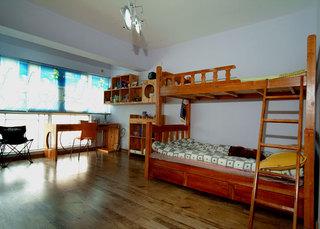 中式田园风格儿童房实木软装效果图