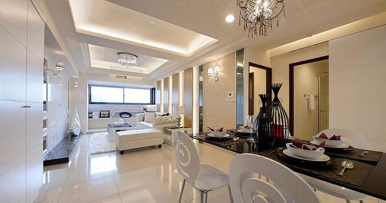 110平明亮简欧风格三室两厅设计装修效果图